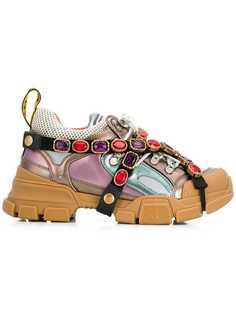 Gucci кроссовки с панельным дизайном