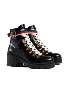 Gucci ботинки с отделкой Sylvie Web