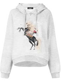 Dsquared2 horse print hoodie