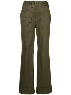 Self-Portrait прямые брюки с ремнем
