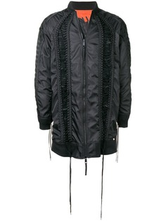 KTZ удлиненная куртка-бомбер со шнуровкой