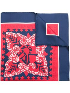 Valentino платок с принтом логотипа