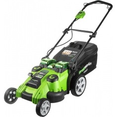 Аккумуляторная газонокосилка greenworks twinforce g40lm49dbk3 40v 2500207ue