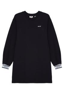 Черное платье-свитшот Levis