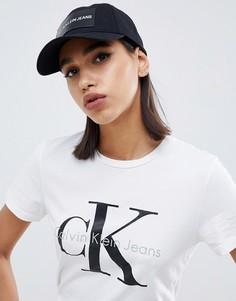 Джинсовая кепка с логотипом Calvin Klein - Черный