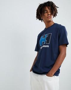 Синяя футболка с логотипом Helly Hansen - Синий