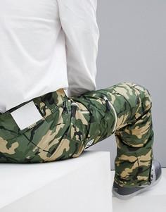 Камуфляжные горнолыжные брюки Wear Colour Sharp - Зеленый