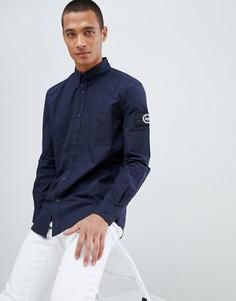 78511f1a85a Темно-синяя рубашка с логотипом на рукаве Hype - Темно-синий