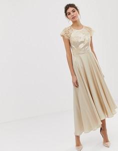 Кружевное платье миди Coast Becky - Розовый