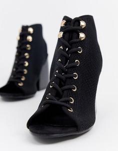 Босоножки на блочном каблуке ASOS DESIGN Punto - Черный