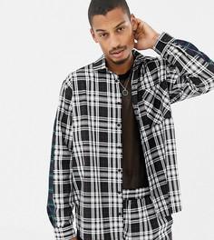 Oversize-рубашка в клетку с контрастными полосками Milk It Vintage - Черный