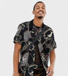 Рубашка классического кроя с леопардовым принтом Milk It Vintage - Черный