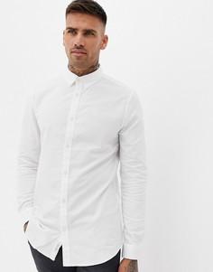 Белая приталенная оксфордская рубашка River Island - Белый