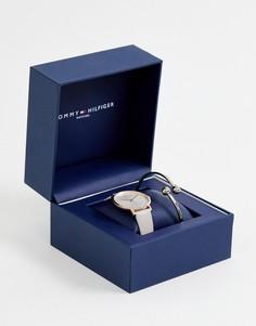 Часы и браслет в подарочном наборе Tommy Hilfiger - Черный