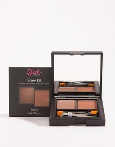 Набор для макияжа бровей Sleek MakeUP - Коричневый