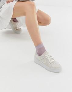 Серые кроссовки Nike Ice Air Force 1 Sage - Серый