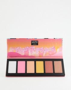 Палитра хайлайтеров NYX Professional Makeup Sugar Trip Squad - Бесцветный
