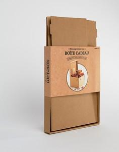 Подарочная коробка с возможностью записи вашего собственного послания SUCK - Коричневый