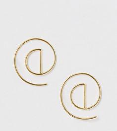 Серьги из позолоченного серебра с геометрическим дизайном ASOS DESIGN - Золотой