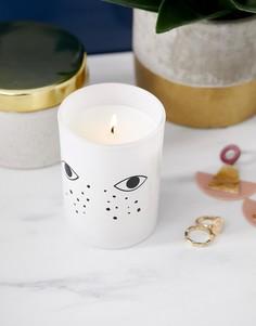 Ароматизированная свеча с принтом глаз Monki - Мульти