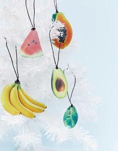Комплект из 10 елочных украшений в виде фруктов Monki - Мульти