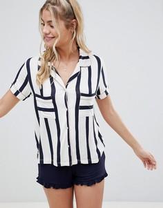 Полосатая пижама с шортами Chelsea Peers - Темно-синий