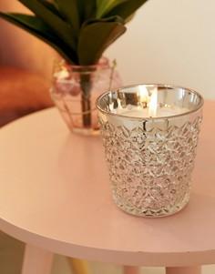 Большая серебристая свеча Candlelight - Серебряный