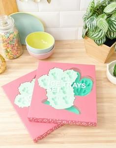 Набор из 2 лотков для льда в виде кактуса Sunnylife - Зеленый