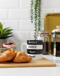 Кружка с принтом nudge nudge wink wink U Studio - Белый