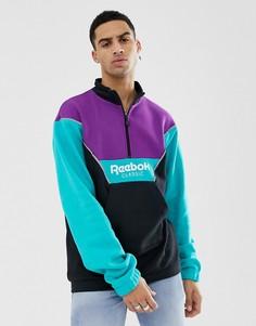 Куртка колор блок с короткой молнией Reebok Classics DX0135 - Черный
