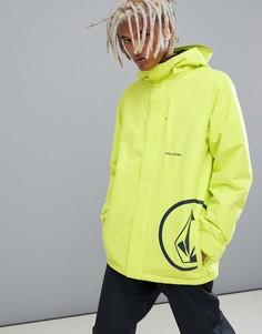 Желтая утепленная куртка Volcom 17 Forty - Желтый