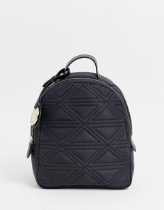 Стеганый нейлоновый рюкзак Emporio Armani - Черный