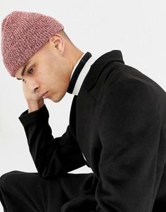 Розовая шапка-бини ASOS DESIGN - Розовый