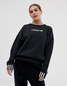 Черный флисовый свитшот adidas Originals Coeeze - Черный