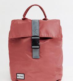 Розовый нейлоновый рюкзак с откидным клапаном и светоотражающим логотипом Mi-Pac - Розовый