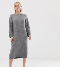 Платье миди ASOS DESIGN Petite - Серый