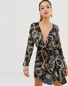 Платье с принтом Club L - Мульти
