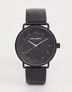 Черные часы с золотистой отделкой ASOS DESIGN - Черный
