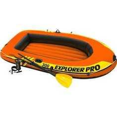 Надувная лодка Intex Explorer Pro 300 до 200 кг (58358)/59623