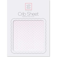 Детская простынь SwaddleDesigns Fitted Crib Sheet Lt. PP w/PP Dots (SD-157PP)