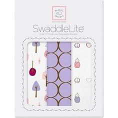 Набор пеленок SwaddleDesigns SwaddleLite Cute and Calm Lavender (SD-441L)