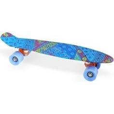 Скейт Moove&Fun пластиковый 22х6-18, синий, PP2206-18 blue