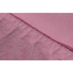 Простыня Ecotex махровая на резинке 180х200х20 см (ПРМ18 фиолетовый)