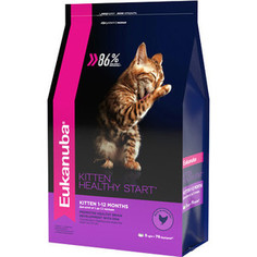 Сухой корм Eukanuba Kitten Healthy Start Rich in Poultry с домашней птицей для котят 5кг