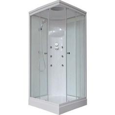 Душевая кабина Royal Bath 80х80х217 стекло белое/прозрачное (RB80HP3-WT)