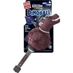 Игрушка GiGwi Push to Mute Dinoball Squeak динозавр с отключаемой пищалкой для собак (75393)