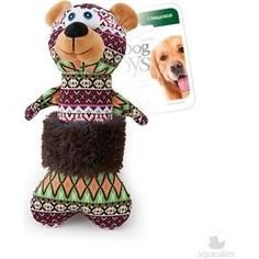 Игрушка GiGwi Dog Toys Squeaker мишка с пищалкой для собак (75290)