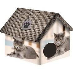 Домик PerseiLine Дизайн Британец для кошек 33*33*40 см (00036/ДМД-1)
