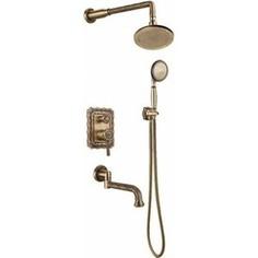 Душевая система Bronze De Luxe встраивыемая, бронза (10137R)
