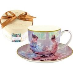 Чашка с блюдцем Carmani Балерины у окна (CAR2-045-0210-AL)